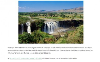 Ethiopia Poised to Become Next Hot African Ecotourism Destination