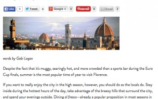 Florence: Summer and the City
