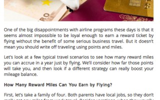Are Miles Rewards Cards the Best Way to Fly for Free Today?