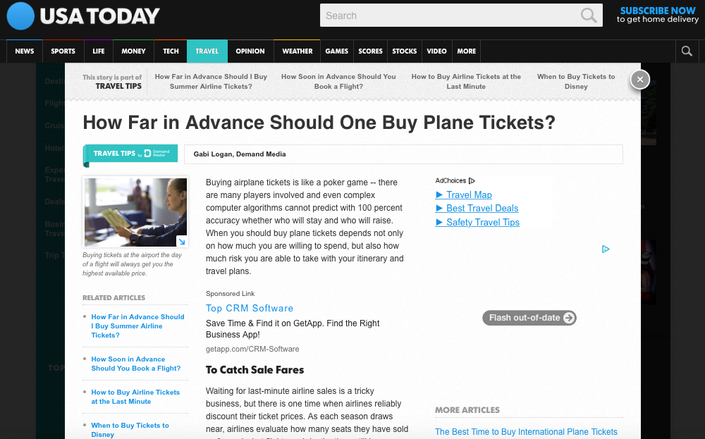 How Far in Advance Should One Buy Plane Tickets?
