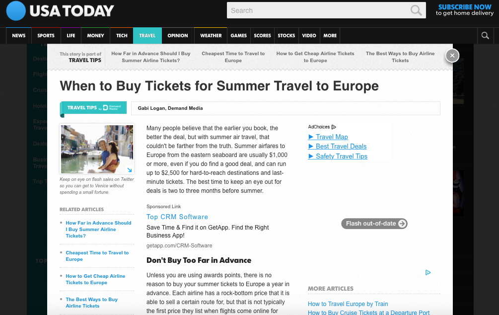 When to Buy Tickets for Summer Travel to Europe